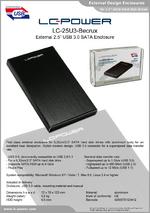 "Datasheet 2,5"" enclosure LC-25U3-Becrux"