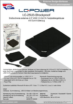 "Datenblatt 2,5""-Festplattengehäuse LC-25U3-Shockproof"