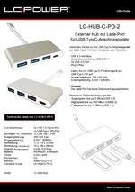Datenblatt USB-Hub LC-HUB-C-PD-2