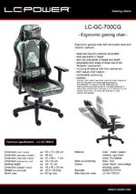 Datasheet gaming chair LC-GC-700CG