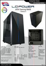 Datasheet ATX case Gaming 994B Vitreous