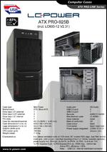 Datasheet ATX case PRO-925B with PSU LC600-12