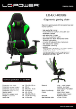 Datasheet gaming chair LC-GC-703BG