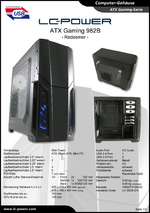 Datenblatt ATX-Gehäuse Gaming 982B Redeemer