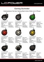 Datenblatt Gaming-Stuhlrollen LC-CASTERS-1BB bis 6BB