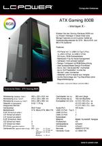 Datenblatt ATX-Gehäuse Gaming 800B Interlayer X