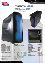 Datasheet ATX case Gaming 985B Vindicator