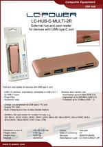 Datasheet USB hub LC-HUB-C-MULTI-2R