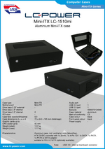 Datasheet Mini-ITX case LC-1510mi