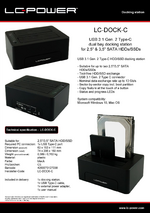 Datasheet docking station LC-DOCK-C