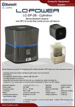 Datasheet speaker LC-SP-3B