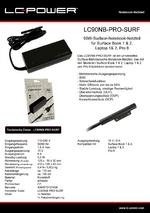 Datenblatt Notebook-Netzteil LC90NB-PRO-SURF