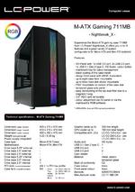 Datasheet M-ATX case Gaming 711MB Nightbreak_X
