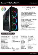 Datenblatt ATX-Gehäuse Gaming 703B Quad-Luxx