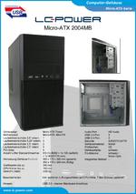 Datenblatt Micro-ATX-Gehäuse 2004MB