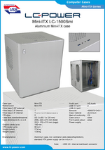 Datasheet Mini-ITX case LC-1500Smi