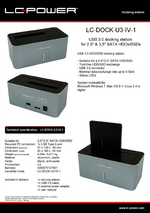 Datasheet docking station LC-DOCK-U3-IV-1