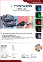 Datasheet PC illumination LC-PCI-LED