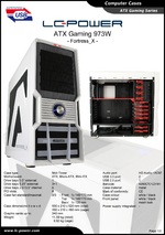 Datasheet ATX case Gaming 973W Fortress_X
