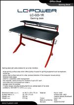 Datasheet gaming desk LC-GD-1R