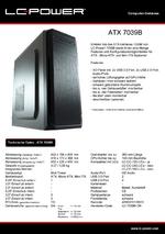 Datenblatt ATX-Gehäuse 7039B