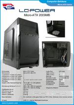 Datenblatt Micro-ATX-Gehäuse 2009MB