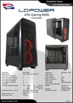 Datasheet ATX case Gaming 990B Concorde