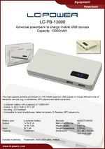 Datasheet powerbank LC-PB-13000