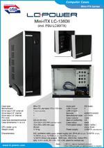 Datasheet Mini-ITX case LC-1360II
