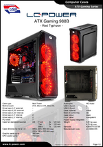 Datasheet ATX case Gaming 988B Red Typhoon