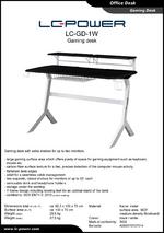 Datasheet gaming desk LC-GD-1W