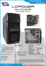 Datenblatt Gehäuse 2000MB mit Netzteil LC420H-12