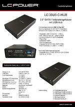 "Datenblatt 3,5""-Festplattengehäuse LC-35U3-C-HUB"