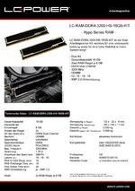 Datenblatt Arbeitsspeicher LC-RAM-DDR4-3200-HS-16GB-KIT