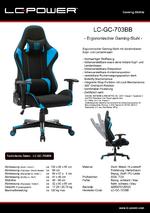 Datenblatt Gaming-Stuhl LC-GC-703BB