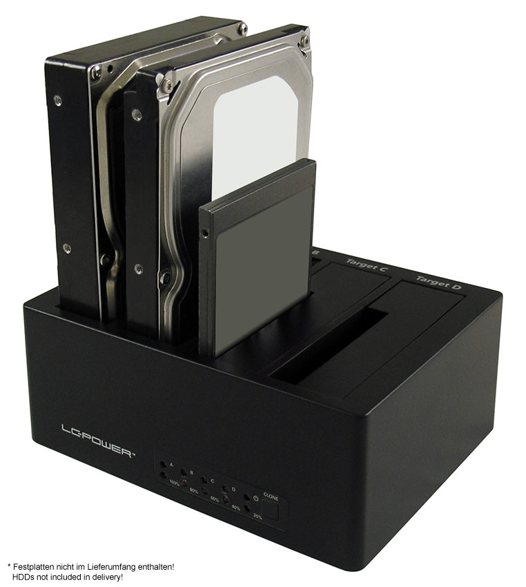 Docking Station LC-DOCK-U3-4B Anwendungsfoto