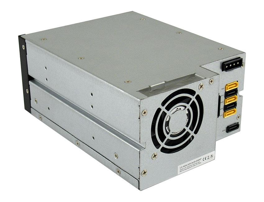 Laufwerkseinschub LC-ADA-525-3x35-SWAP Rückansicht