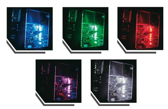 PC-Beleuchtung LC-PCI-LED Anwendungsfoto