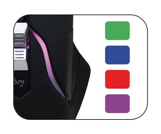 Optical RGB USB mouse m715B colour adjustment