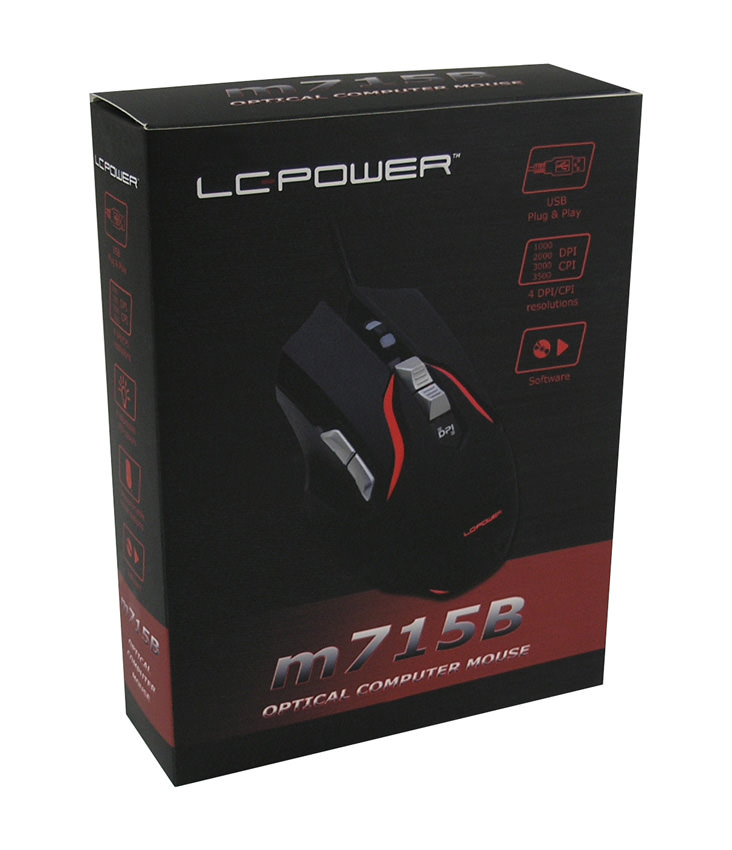 Optische RGB-USB-Maus m715B Verkaufsverpackung