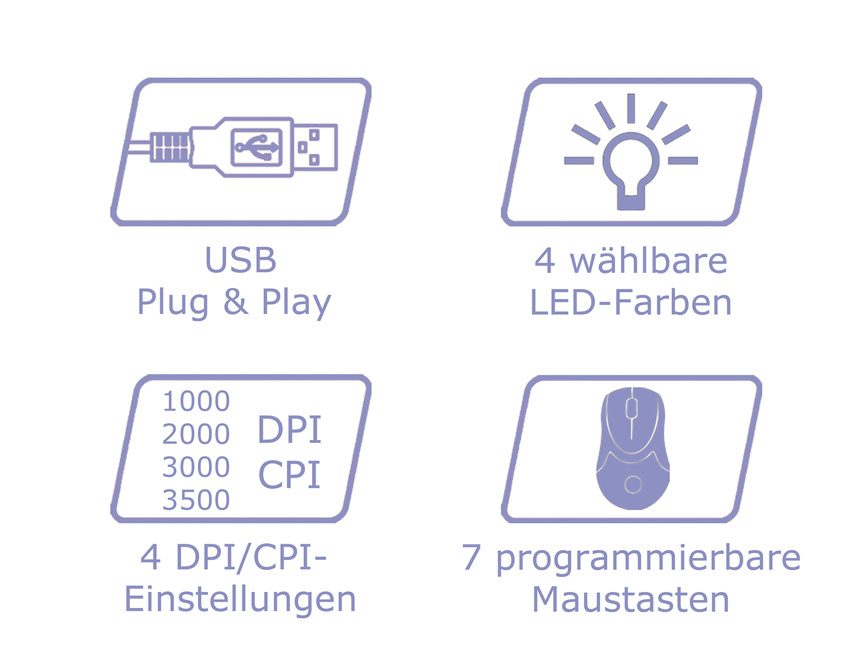 Optische RGB-USB-Maus m715R Logos