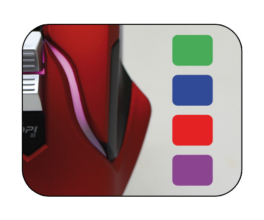 Optische RGB-USB-Maus m715R Farbeinstellung
