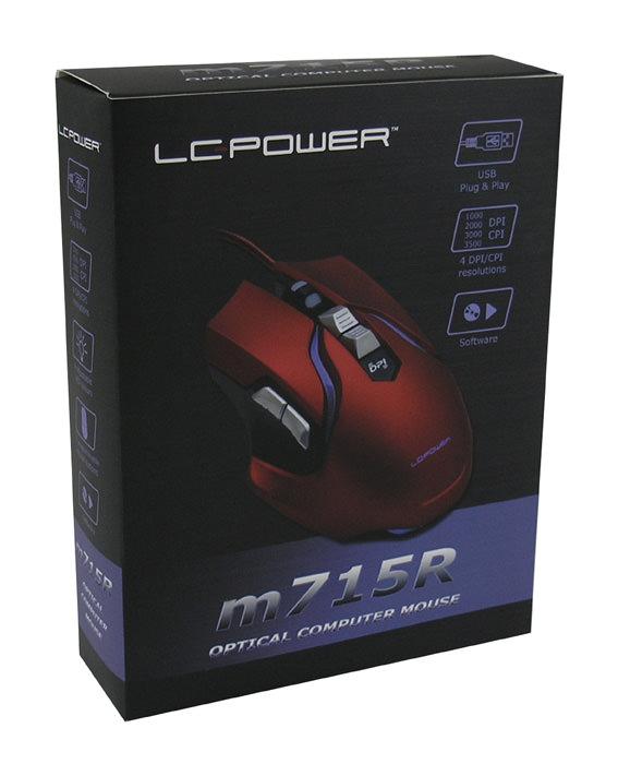 Optische RGB-USB-Maus m715R Verkaufsverpackung