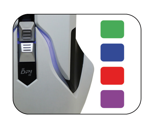 Optische RGB-USB-Maus m715W Farbeinstellung