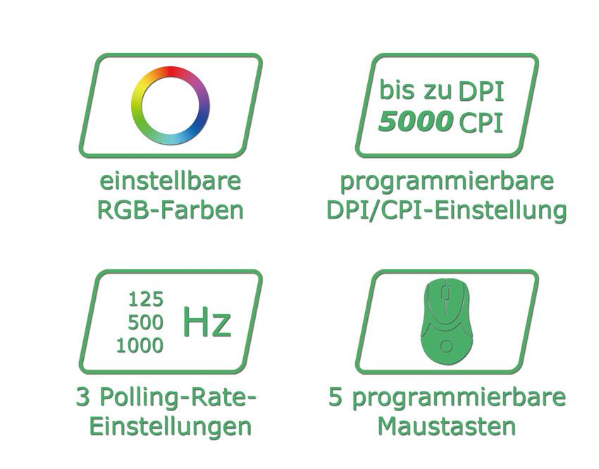 Optische RGB-USB-Maus m810RGB Logos