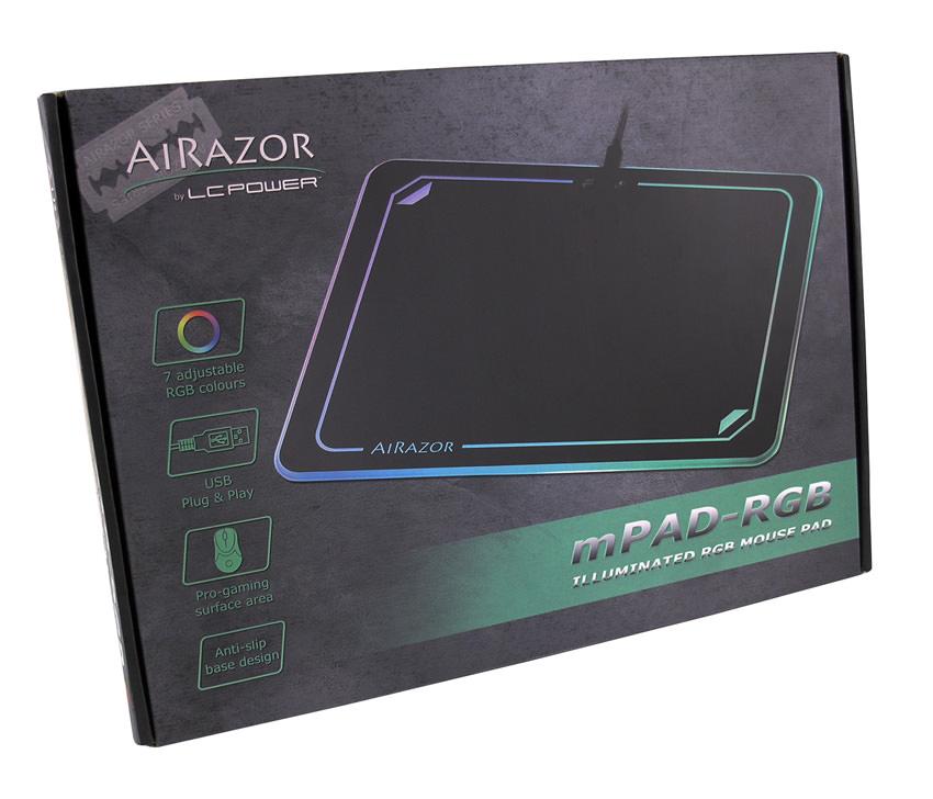 RGB-Maus-Pad mPAD-RGB Verkaufsverpackung