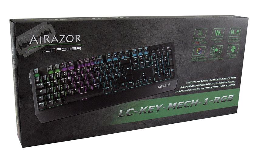 Mechanische RGB-Tastatur LC-KEY-MECH-1-RGB Verkaufsverpackung