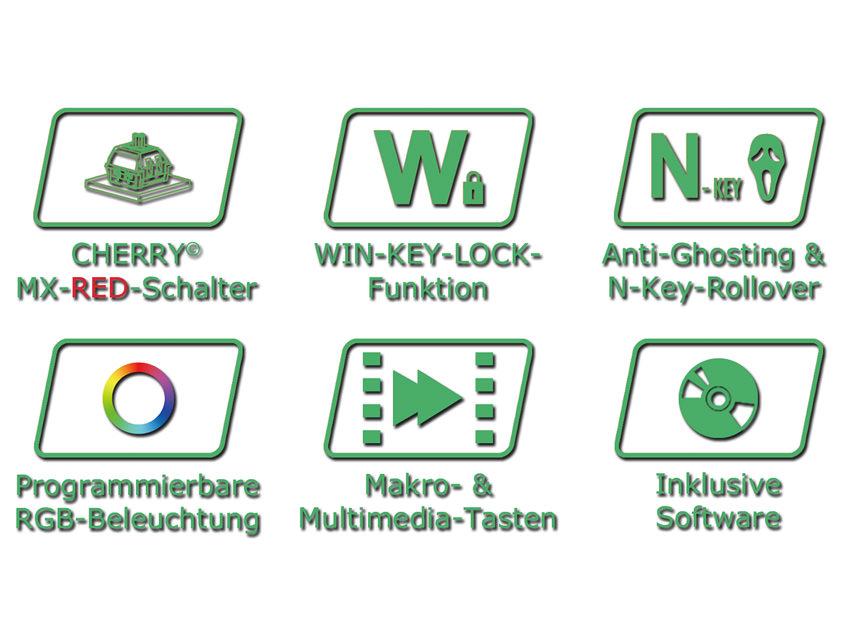 Mechanische RGB-Tastatur LC-KEY-MECH-1-RGB Logos