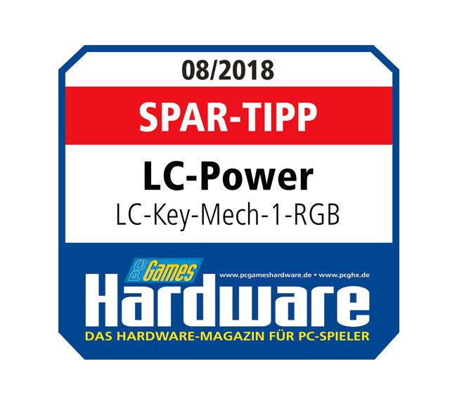 Mechanische RGB-Tastatur LC-KEY-MECH-1-RGB - PCGH-Award