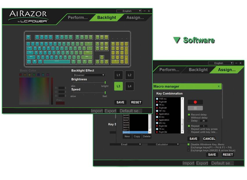 mechanical RGB keyboard LC-KEY-MECH-1-RGB - software